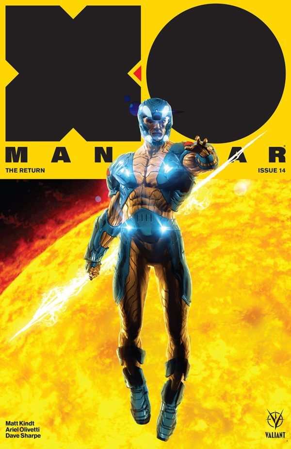 X-O Manowar #14 cover by Kaare Andrews