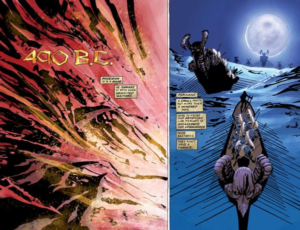 Xerxes #1 art by Frank Miller and Alex Sinclair