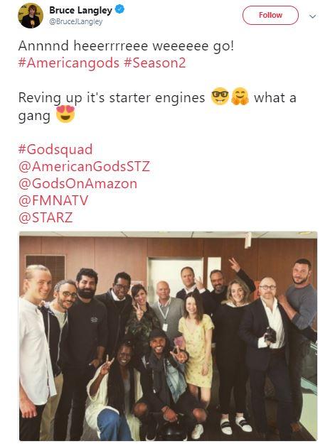 american gods season 2 production starts