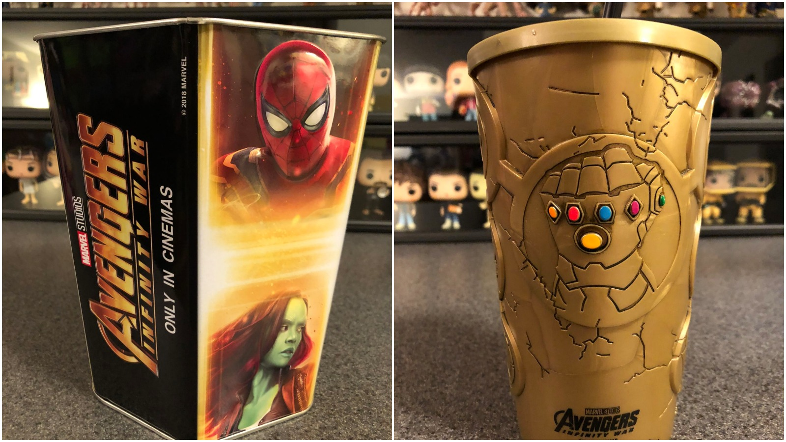 Avengers: Infinity War Cinemark Cup and tub