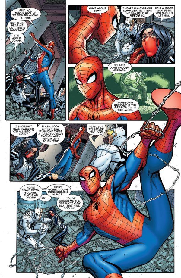 Amazing Spider-Man #800 art by Nick Bradshaw and Edgar Delgado