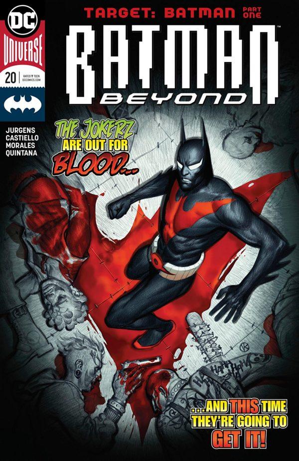 Batman Beyond #20 cover by Viktor Kalvachev