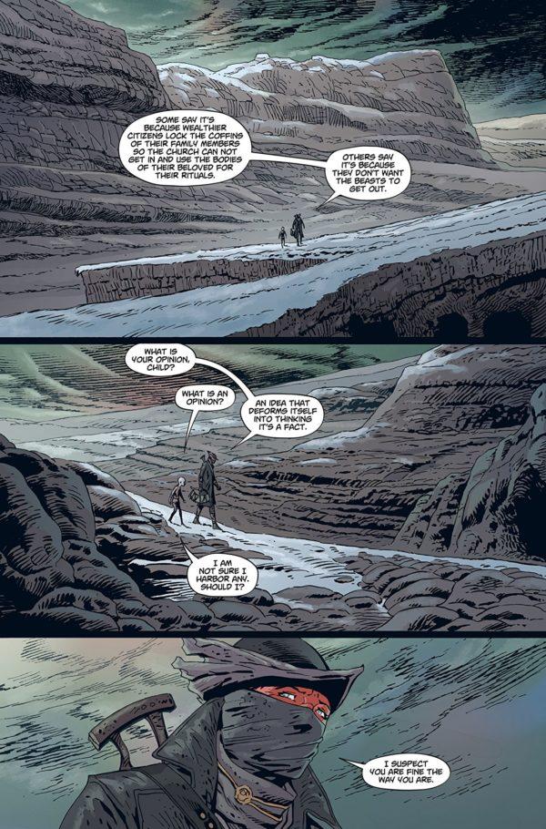 Bloodborne #3 art by Piotr Kowalski, Brad Simpson, and Kevin Enhart