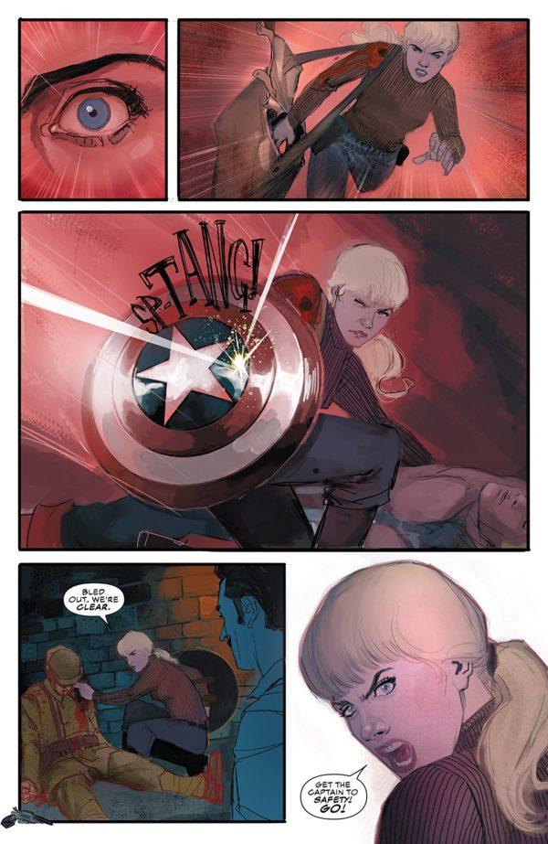 Captain America #702 art by Rod Reis