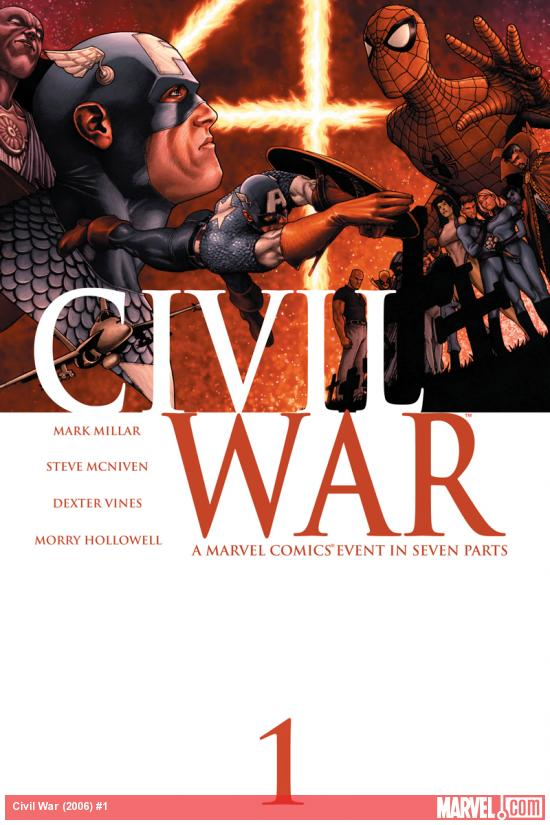 Civil War #1 cover by Steve McNiven