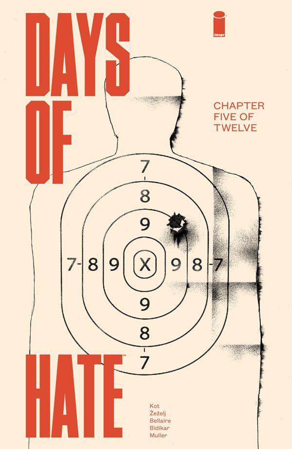 Days of Hate #5 cover by Danijel Zezelj