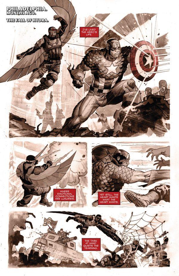 Falcon #8 art by Joshua Cassara and Rachelle Rosenberg