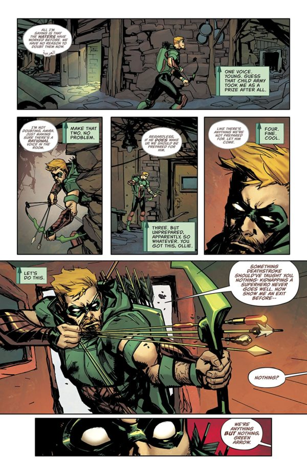Green Arrow #40 art by Marcio Takara and Marcelo Maiolo