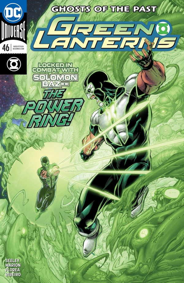 Green Lanterns #46 cover by Brett Booth, Norm Rapmund, and Andrew Dalhouse