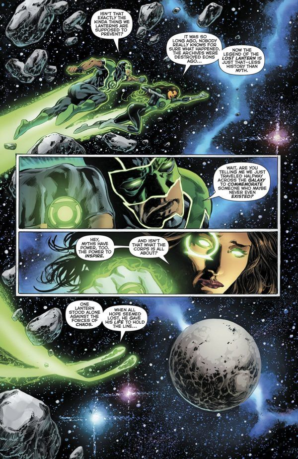 Green Lanterns Annual #1 art by Mike Perkins and Andy Diggle