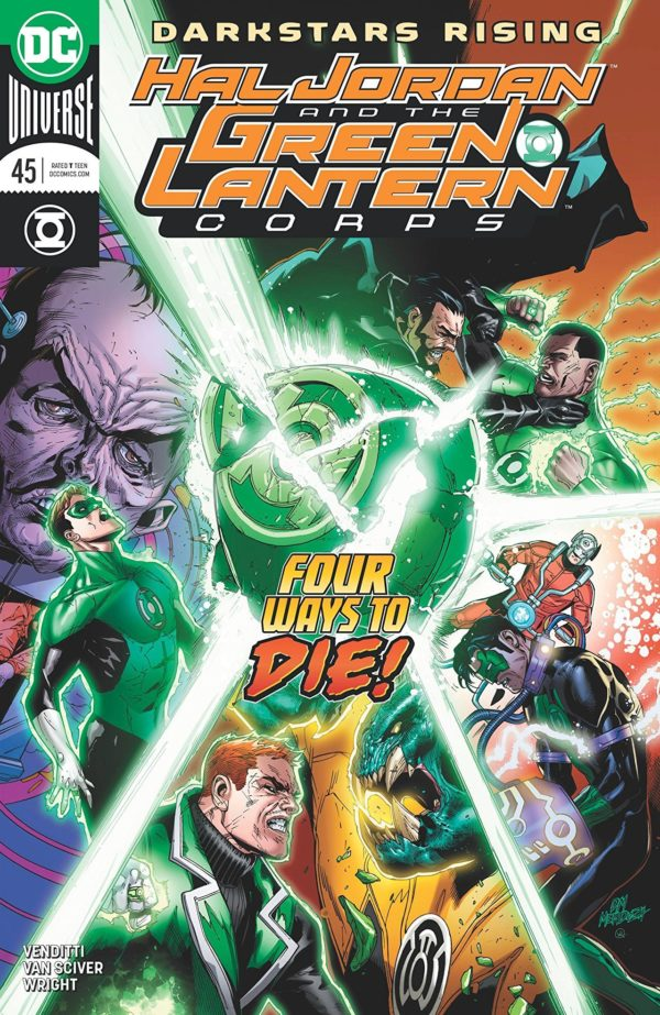 Hal Jordan and the Green Lantern Corps #45 cover by Doug Mahnke, Jaime Mendoza, and Wil Quintana
