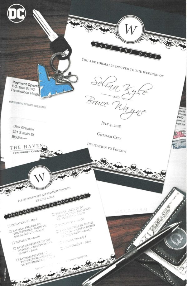 Nightwing\'s Invite to the Batman/Catwoman Wedding - Bleeding Cool ...