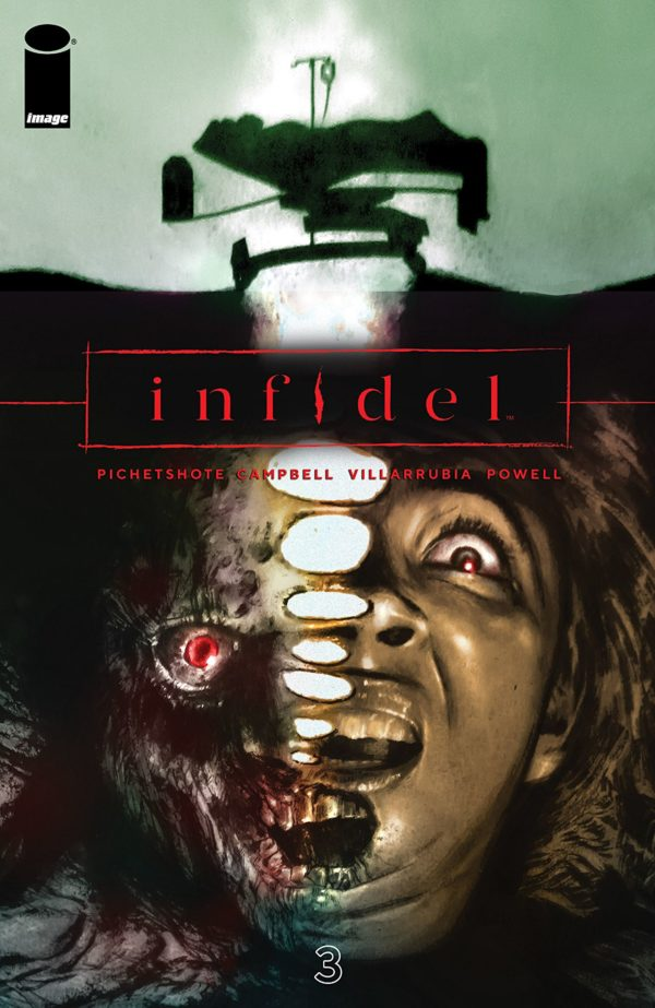 Infidel #3 cover by Aaron Campbell and Jose Villarrubia