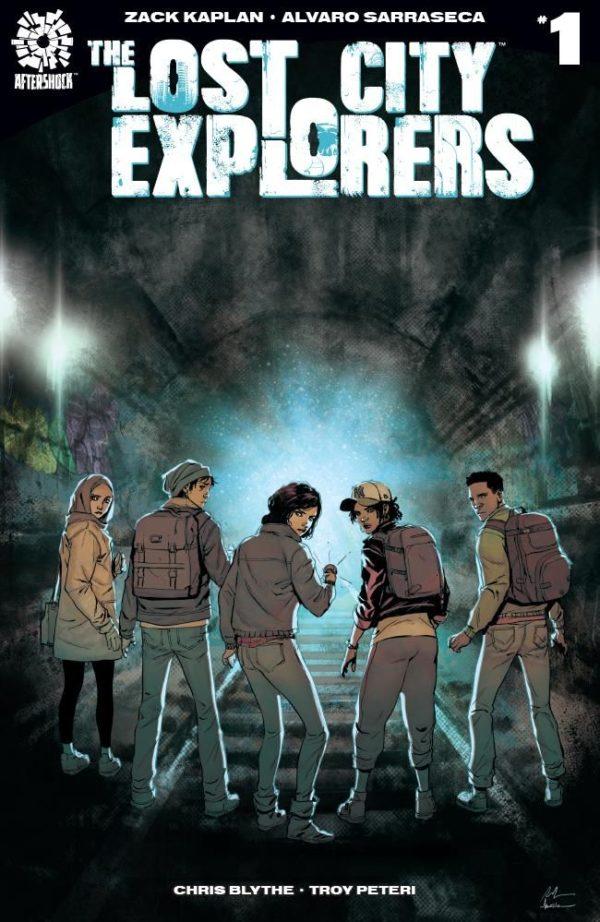 The Lost City Explorers #1 cover by Rafael de la Torre and Marcelo Maiolo
