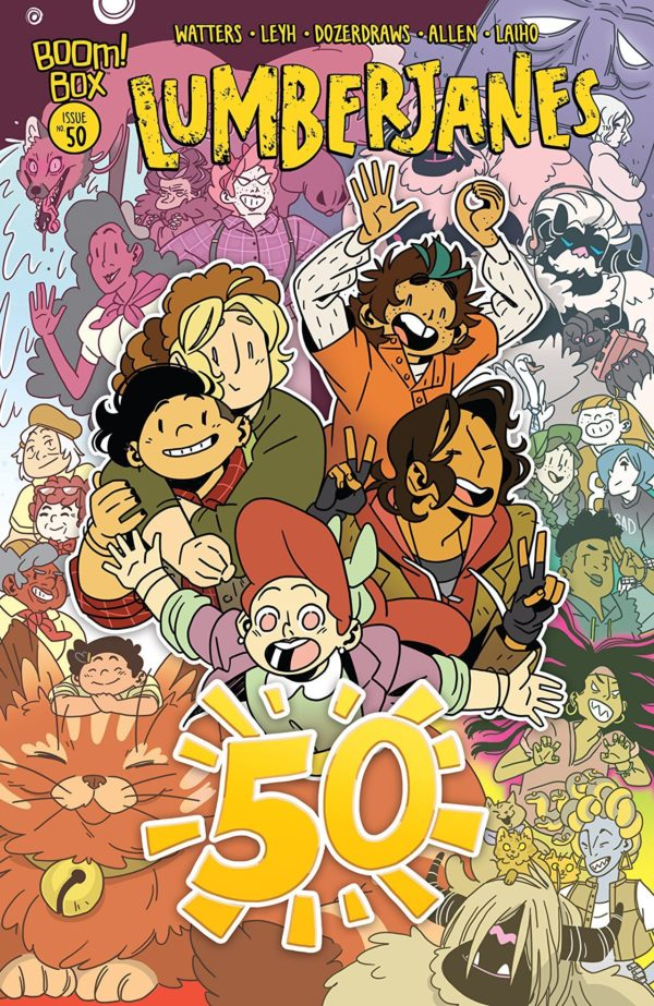 Lumberjanes #50 cover by Kat Leyh