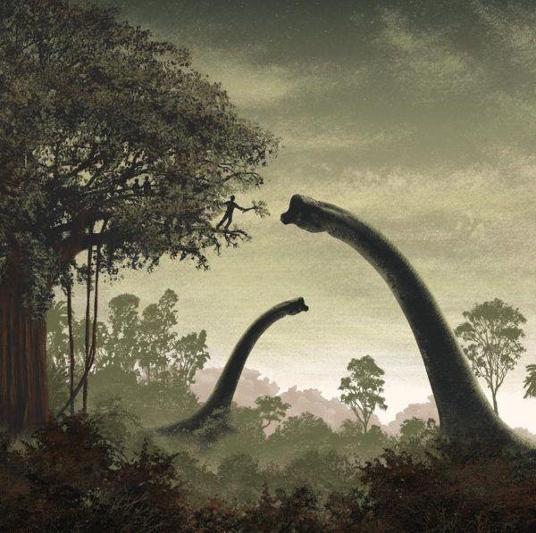 Mondo Jurassic park Vinyl Soundtrack Cover