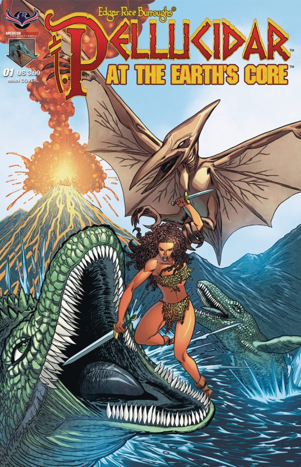 Pellucidar at the Earth's Core cover by Clint Hilinski
