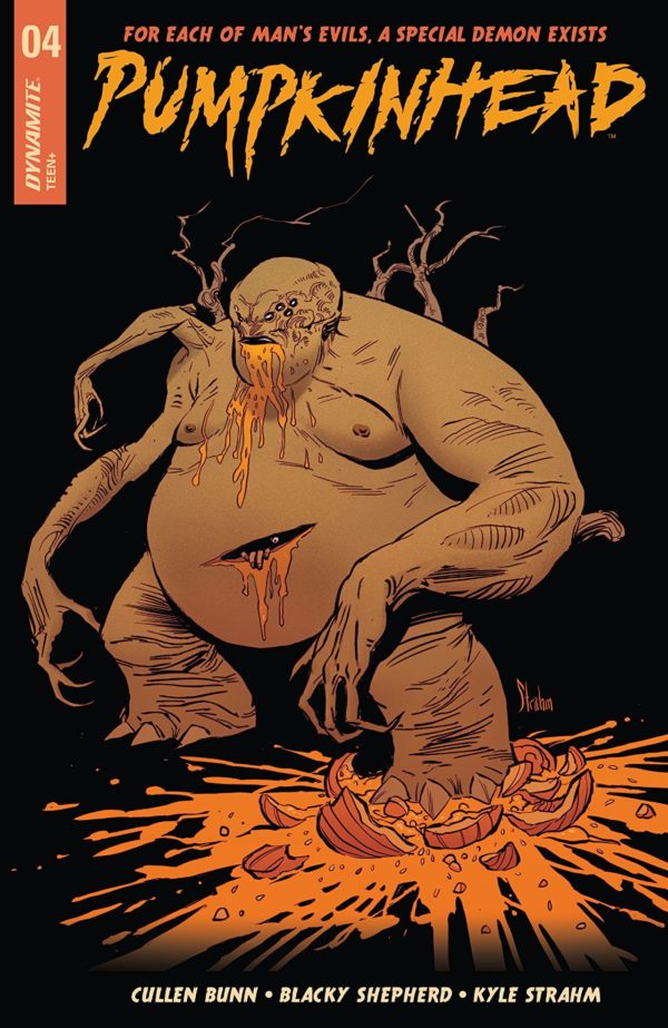 Pumpkinhead #4 cover by Kyle Strahm