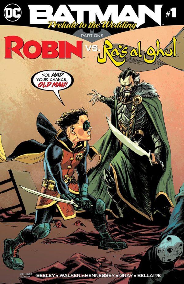 Batman Prelude to the Wedding #1: Robin vs. Ras al Ghul cover by Rafael Albuquerque and Dave McCaig