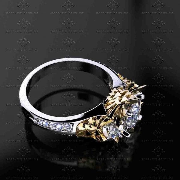 Sarcred 1.90ct trio Triforce Inspired Zelda Ring