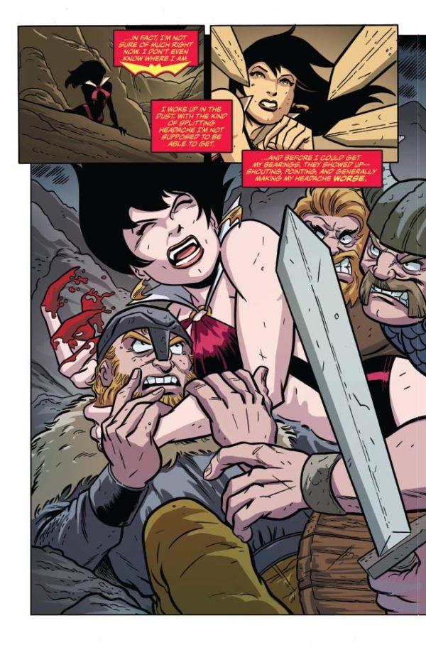 Savage Tales: Vampirella art by Anthony Marques, J. Bone, Fernando Ruiz, Daniel HDR, and Mohan