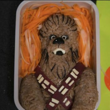 disney star wars solo Chewbacca bento box