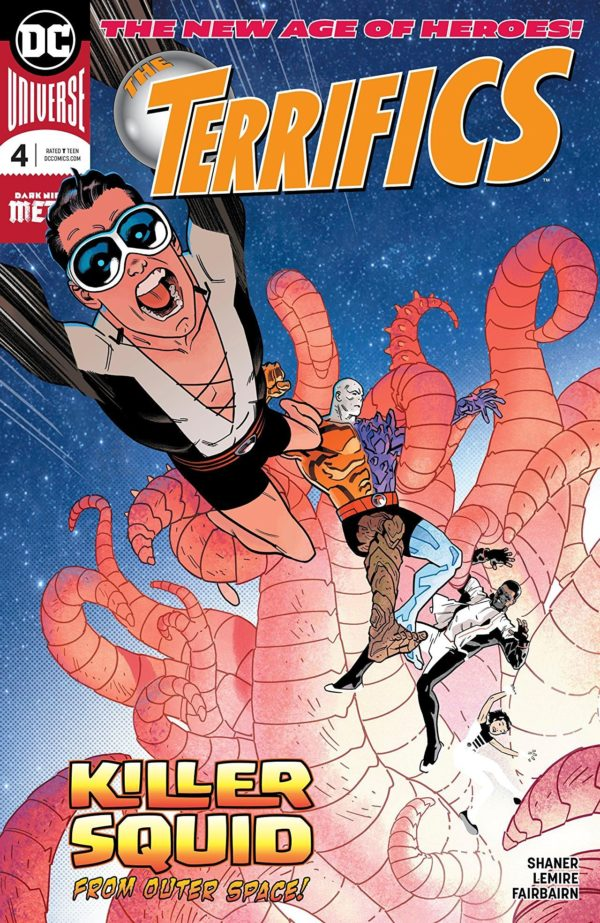 Terrifics #4 cover by Evan Shaner