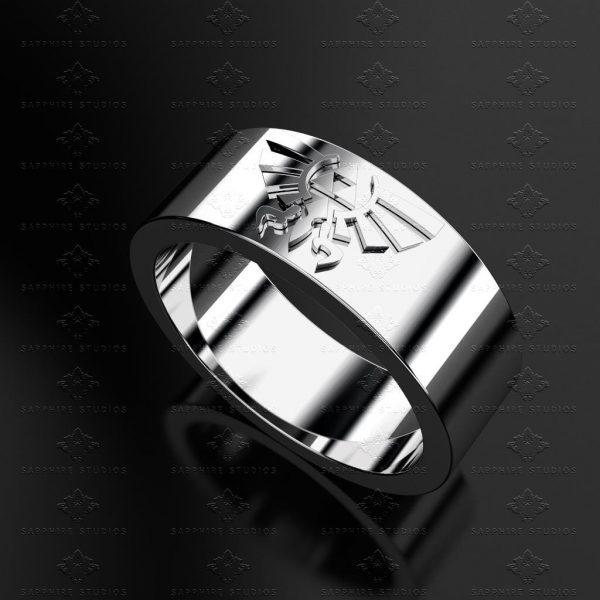 Triforce Sterling Silver Zelda Wedding Band