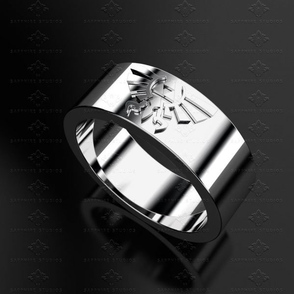 Triforce Sterling Silver Zelda Wedding Band