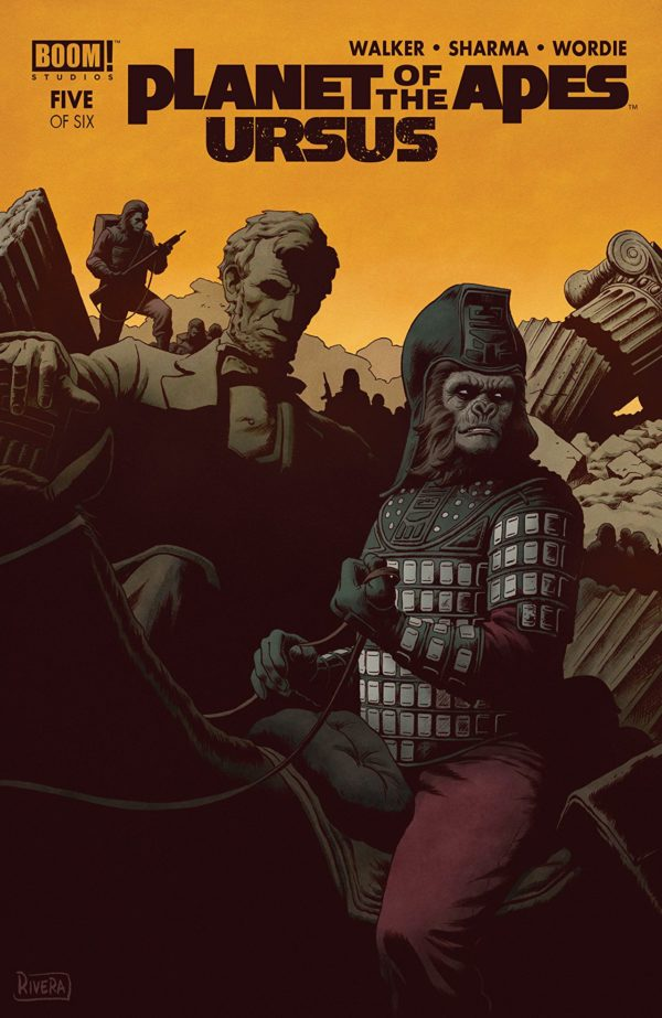 Planet of the Apes: Ursus #5 cover by Joe and Paolo Rivera