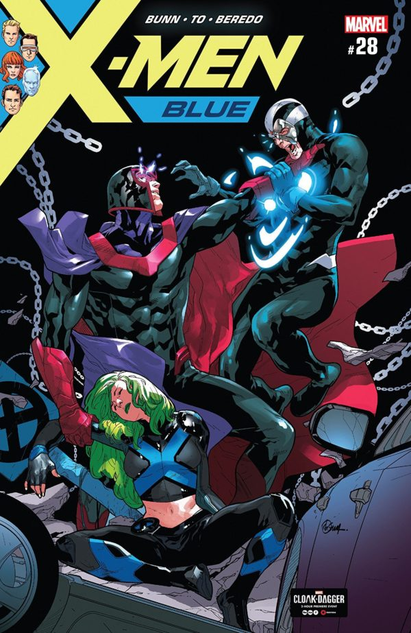 X-Men: Blue #28 cover by R. B. Silva and Rain Beredo