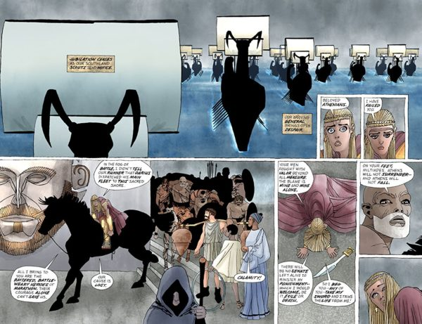 Xerxes #2 art by Frank Miller and Alex Sinclair