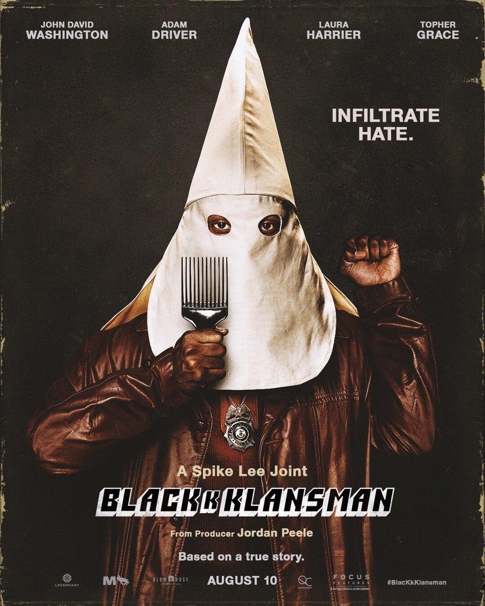 The First Poster for BlacKkKlansman