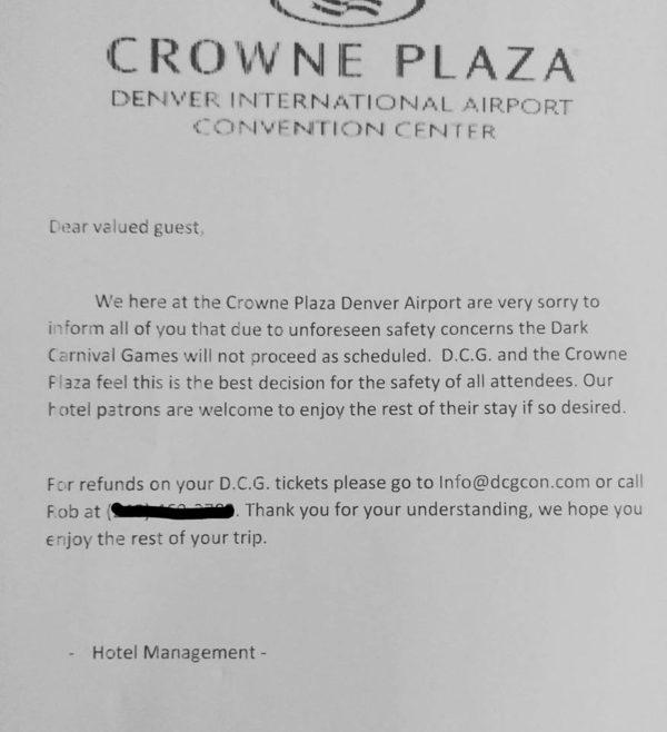 Dark Carnival Games Con Shut Down Over Safety Concerns, ICP Responds