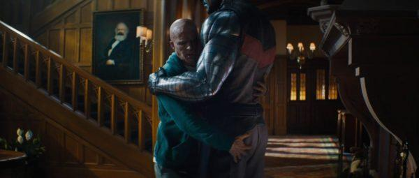 Wade hugging Colossus in Deadpool 2
