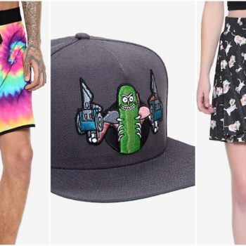 hot topic rick and morty merch