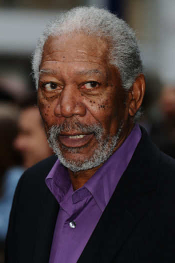 "07/18/2012: Morgan Freeman at the European premiere of ""The Dark Knight Rises""."