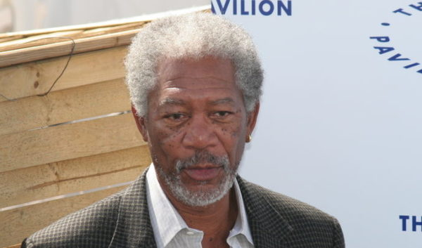 CANNES, FRANCE - MAY 18, 2005: Morgan Freeman attends the 58th International Cannes Film Festival