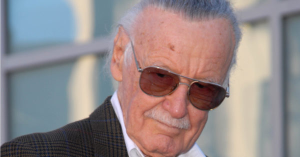 Stan Lee at the induction ceremony for Stan Lee into the Hollywood Walk of Fame, Hollywood, CA. 01-04-11