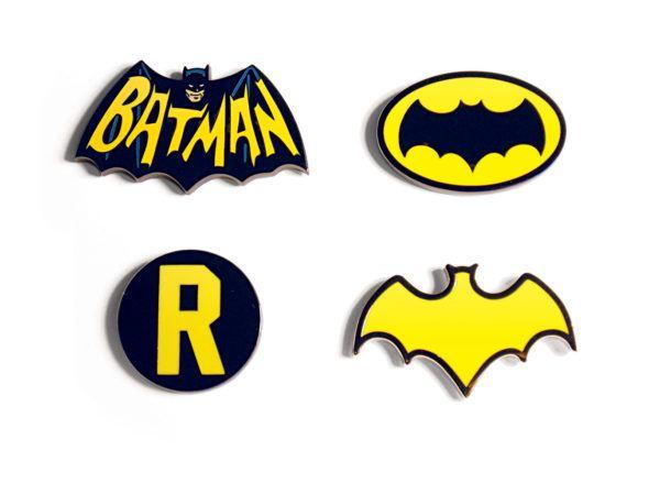 Batman The Classic TV Series Lapel Pins SDCC Exclusive