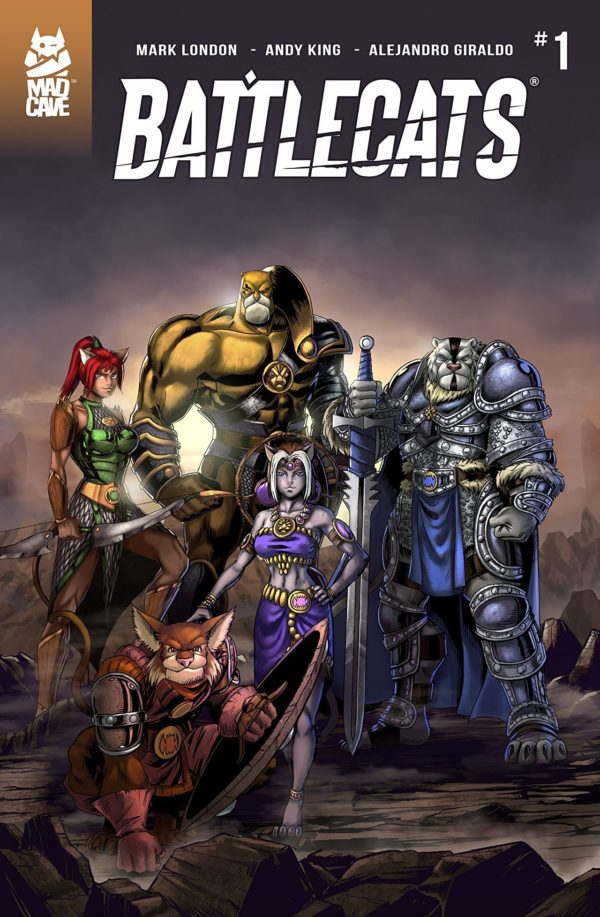 Battlecats #1 cover by Andy King