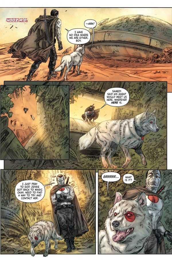Bloodshot Salvation #10 art by Doug Braithwaite and Jordie Bellaire