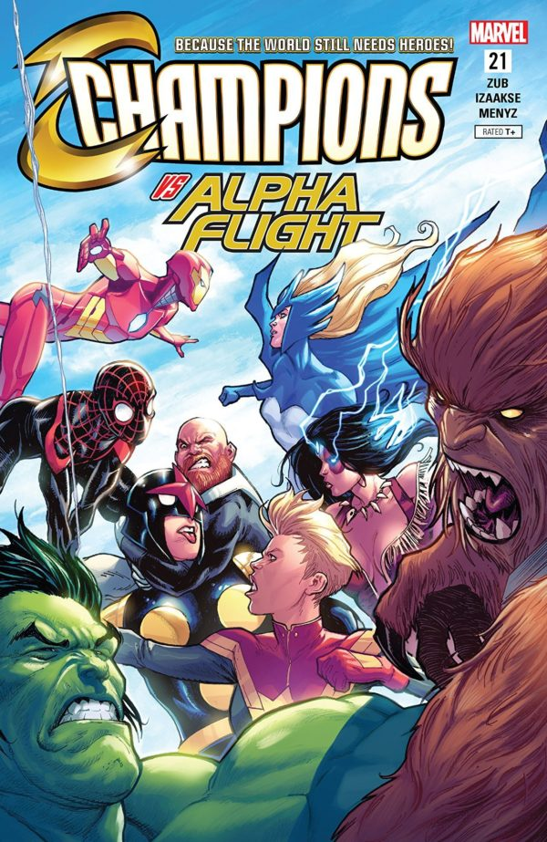Champions #21 cover by Stefano Caselli and Marcio Menyz