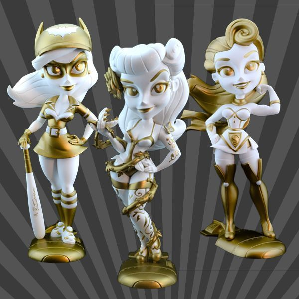 Cryptozoic Golden Goddess DC Bombshells Series 2 Vinyl Figures