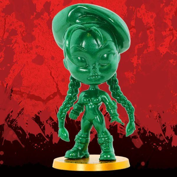 Cryptozoic Metallic Green Cammy Street Fighter Lil Knockouts Vinyl Figure