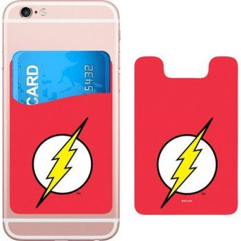 DC Comics Flash Logo Smartphone Card Holder Icon Heroes SDCC