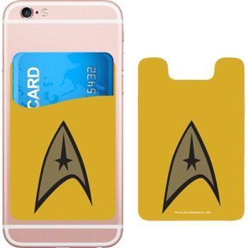 DC Comics Star Trek Logo Smartphone Card Holder Icon Heroes SDCC
