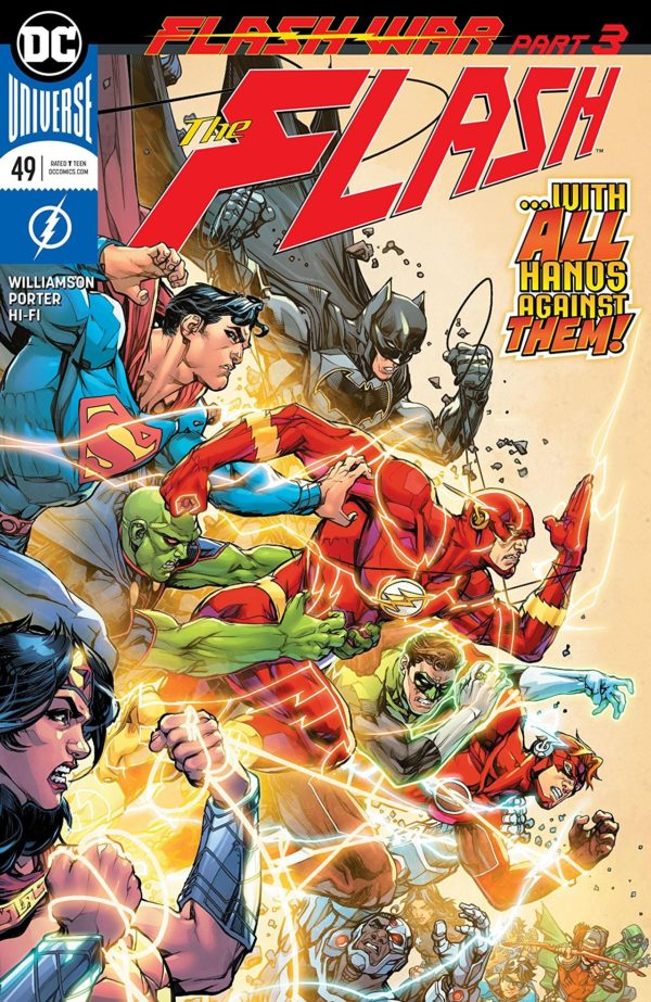 The Flash #49 cover by Howard Porter and Hi-Fi
