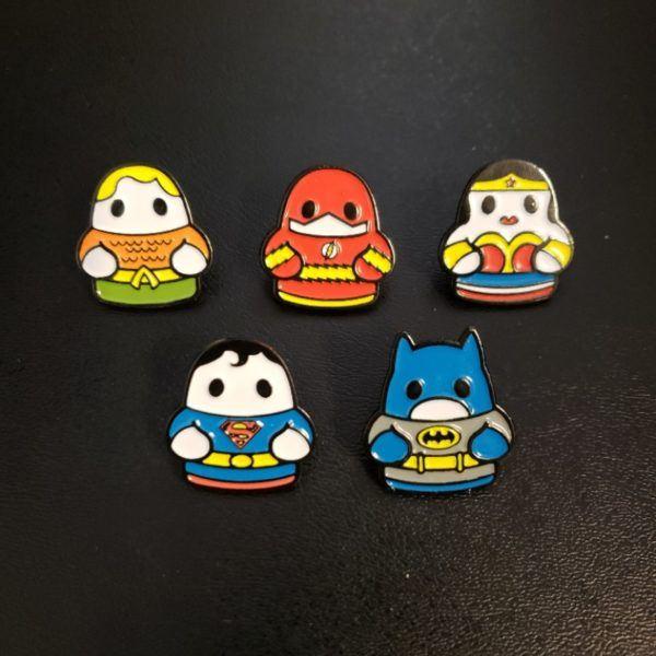 Fugitive Toys SDCC Super Heor TIny Pins