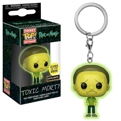 Funko Pop Keychain Rick and Morty Toxic Morty